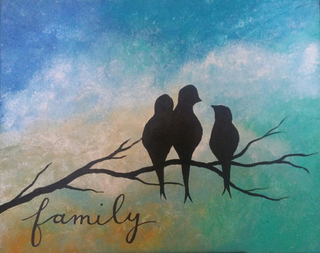 Bird family personalized
