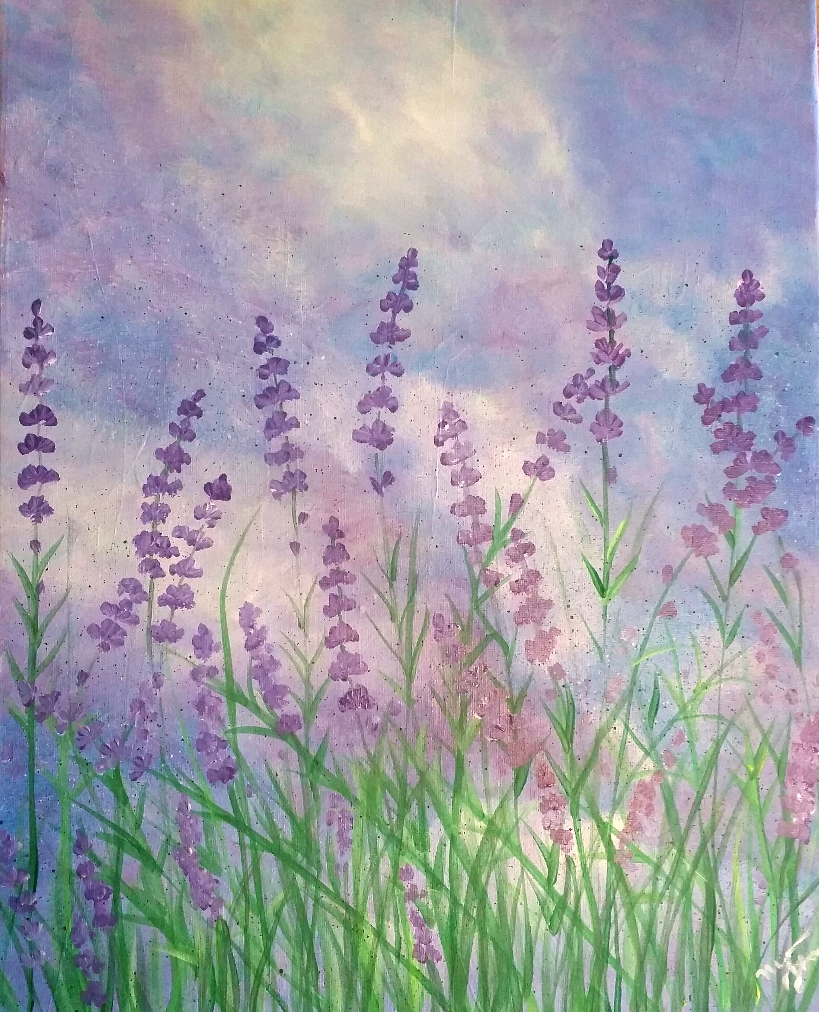 lavender painting - photo #13