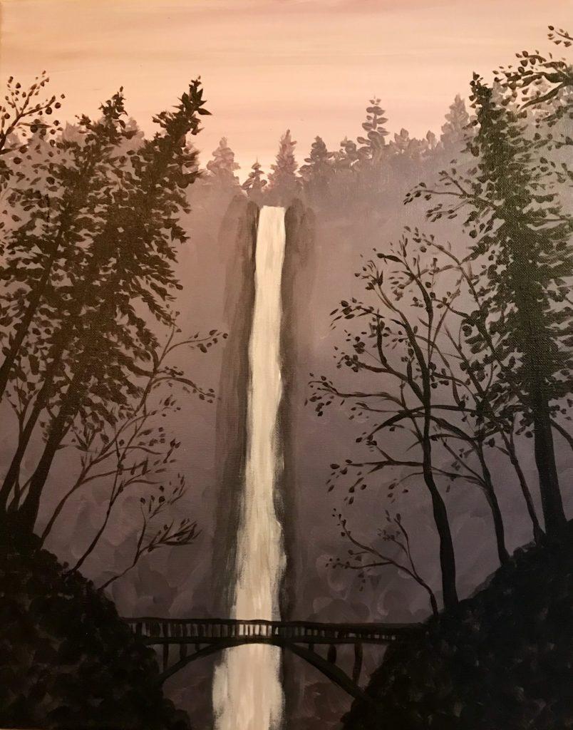 Multnomah Falls in Sepia