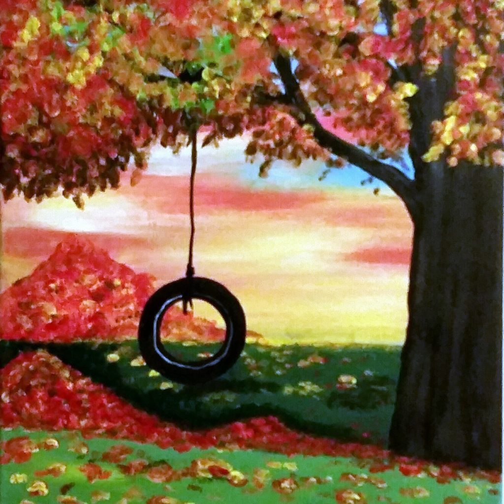 Fall Tire Swing