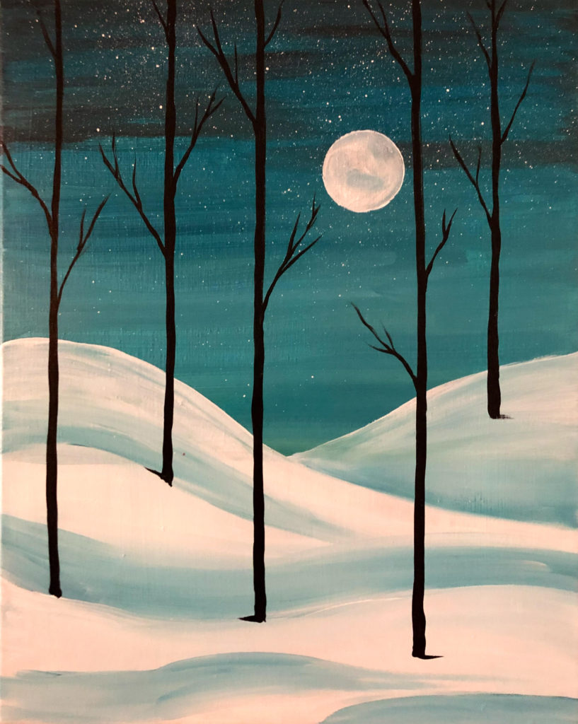 Moonlit Snow