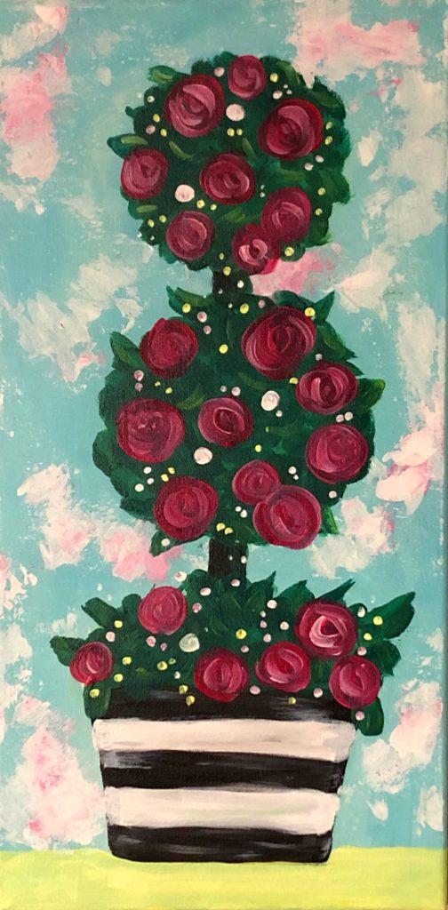 """Rose Topiary 10"""" x 20"""""""
